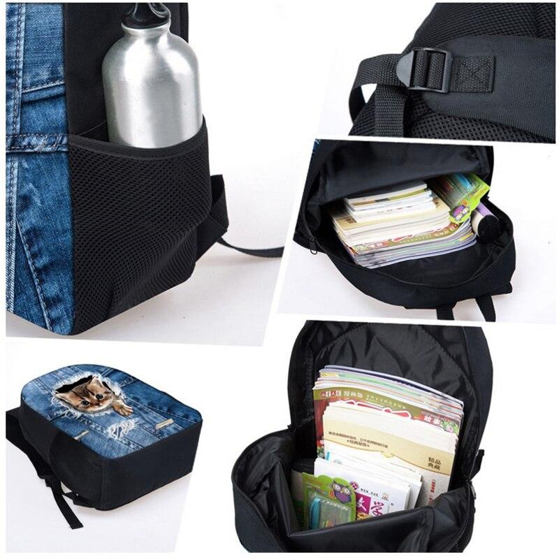 FORUDESIGNS Preppy Style School Bag for Kids 3d French Pug Dog Schoolbag Bookbag Primary Kids Shoulder Book Bag Child Animal Bag