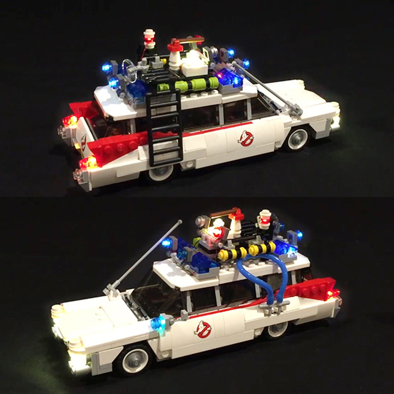 Led Light For Lego 21108 Ghostbusters Ecto-1 Building Bricks Blocks Creator City Compatible 16032 Toys ( light with Battery box) led light for lego 10254 creator city christmas winter holiday train compatible 36001 building blocks only light battery box