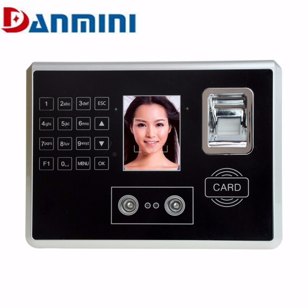 Danmini Face Fingerprint Password Attendance Machine Employee Checking-in Payroll Recorder Face Recognition Time Attendance Cloc