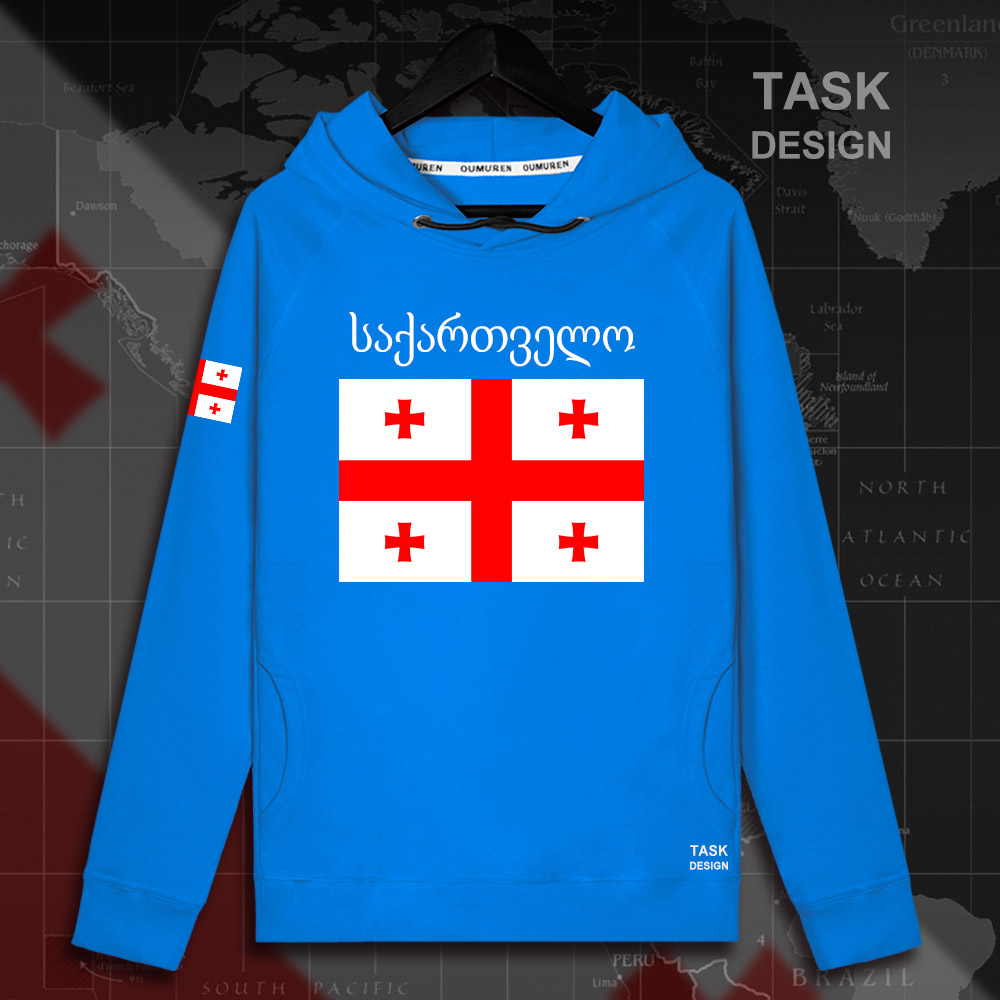 Georgia GEO Georgian men hoodie pullovers hoodies men sweatshirt streetwear clothing hip hop tracksuit nation flag Spring new 02