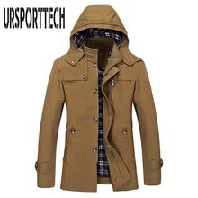 2017 Large Size 3 Colors Warm Outwear Winter Jacket Men Windproof Hood Men Jacket Warm Men Parkas Size M-5XL