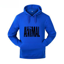 2018 new fashion lovers wear street letters ANIMAL print hoodies men / women's Polluver casual shirt men's pullover hoodie(China)