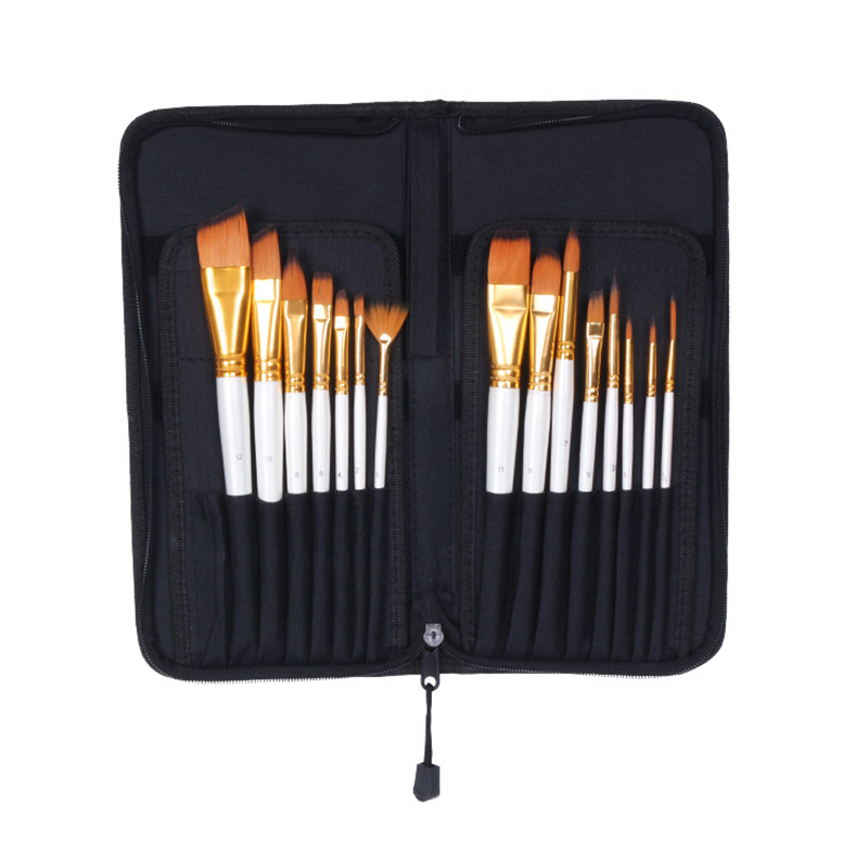 12Pcs/Set Watercolor Gouache Paint Brushes Different Shape Round Pointed Tip Nylon Hair Painting Brush Set Art Supplies12Pcs/Set Watercolor Gouache Paint Brushes Different Shape Round Pointed Tip Nylon Hair Painting Brush Set Art Supplies