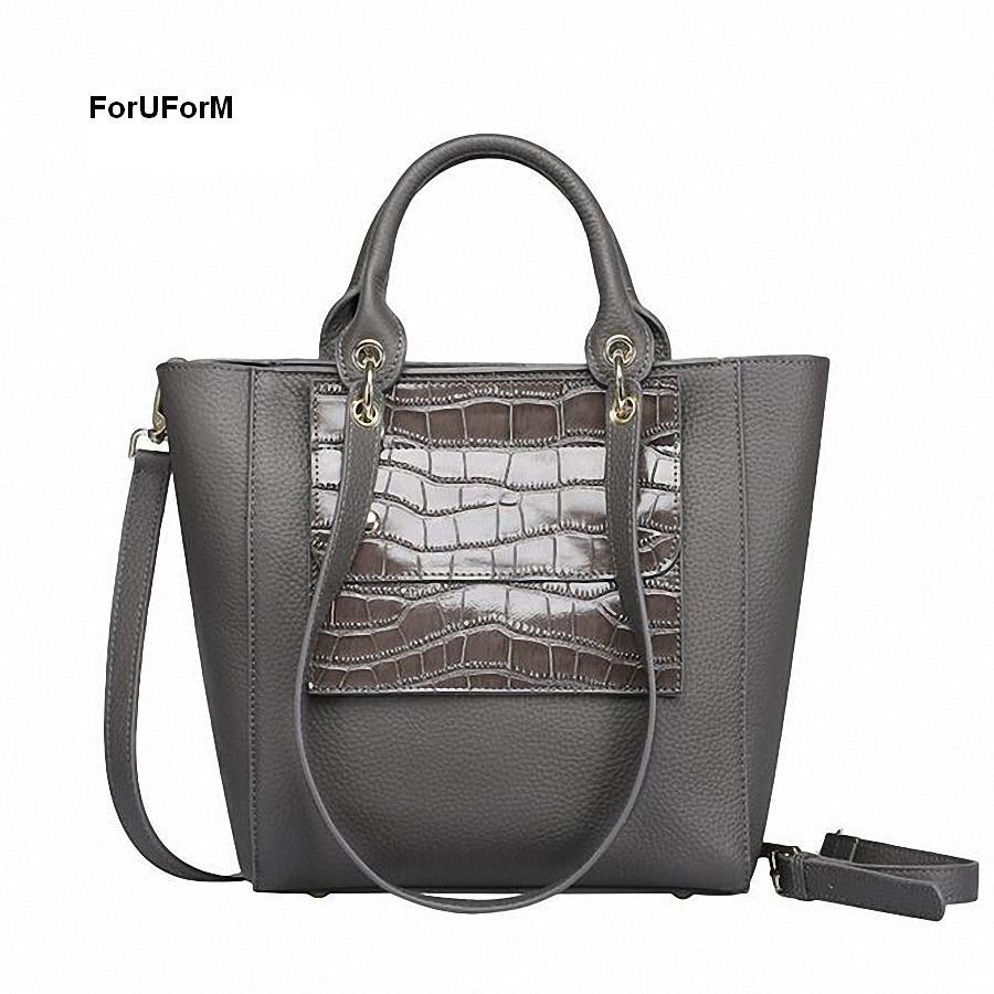 ФОТО ForUForM 2017 New Women Handbag 100% Genuine Leather Shoulder Bag Cowhide Ladies Casual Shopping Bag Large Tote Bolsos -SLI-148