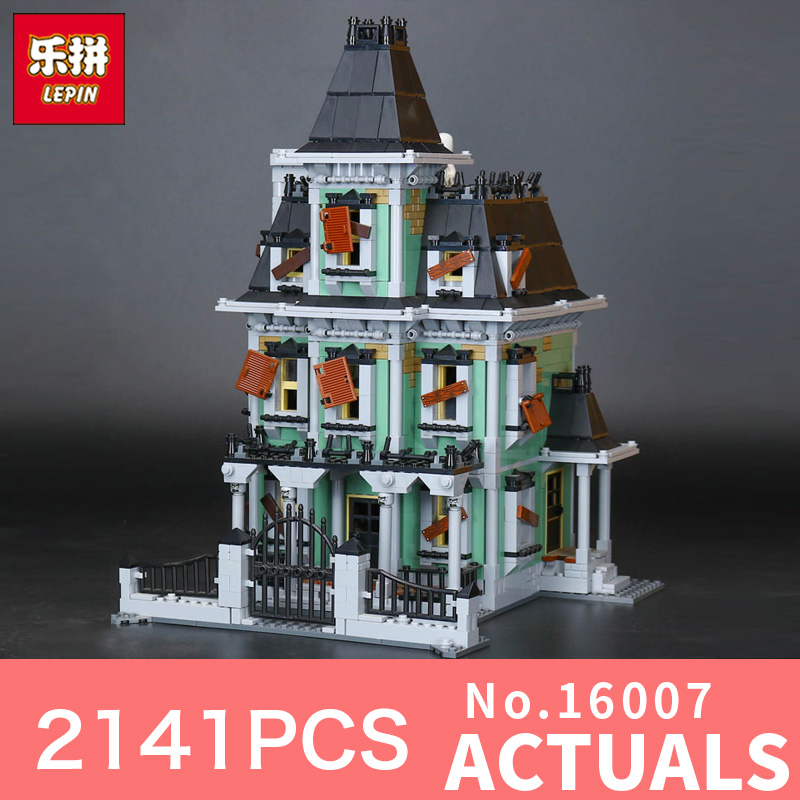 Lepin 16007 2141Pcs Monster fighter The haunted house Model set Building Blocks Model kits LegoINGlys 10228 for Christmas Gifts the monster next door