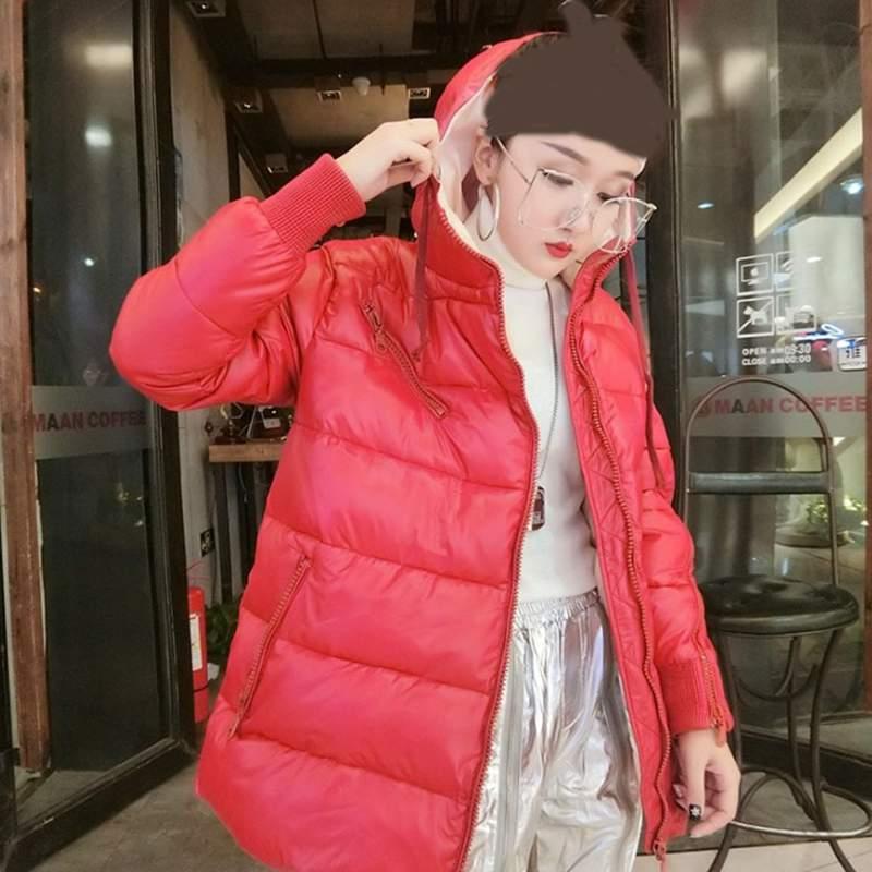 red Épais white À Mode Vêtements Bas Nouveau Slim Couleur Veste 2019 Pr597 Black D'hiver Femmes Capuchon Coréenne Vers Le Chaud Parkas Manteau Décontractés Solide fWWpg8q