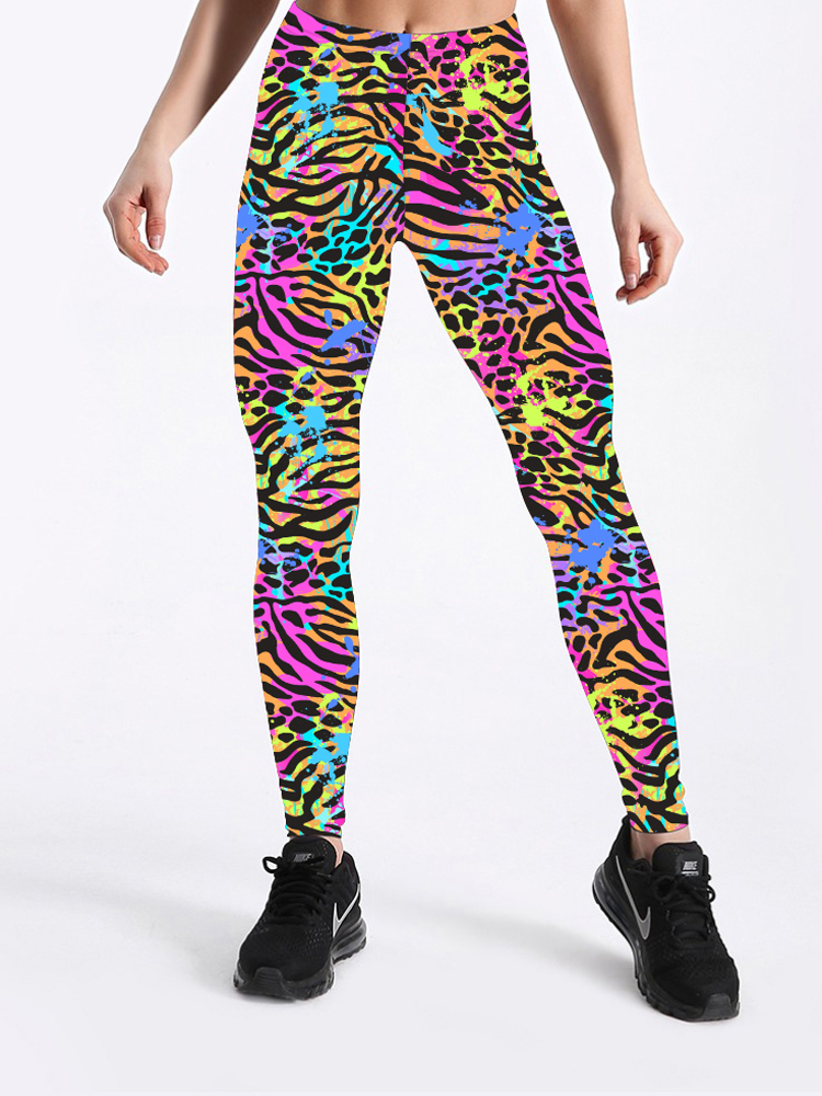 Glam city New Arrival Women Zebra Leopard Printing   Leggings   Digital Printed Fitness Pants Trousers Stretchy Pants Plus Size