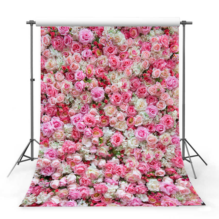 7/×5ft Backdrop Photography Rose Blossom Backdrop Vintage Photography Backdrops Birthday Photo Booth Backdrop Photographic Background Wall Photography Backdrops for Photo Studio Studio Photograph