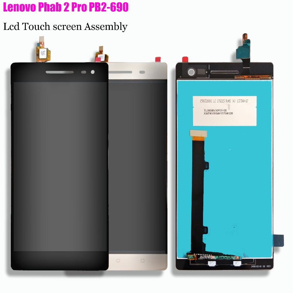 For Lenovo Phab 2 Pro PB2 690M PB2 690Y PB2 690 LCD Display Touch Screen Digitizer Assembly Replacement+Free protective film