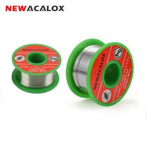 NEWACALOX 0.6mm/0.8mm Lead-free Solder Wire Sn993 Pb007 Cu0.7 with Flux 2.2% Rosin Core Welding Wire Soldering Wire Roll