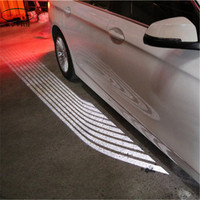 car accessories motorcycle A Pair Angle's Wings Car Bottom Courtesy Light Shadow Night Running Styling LED Welcome Atmosphere
