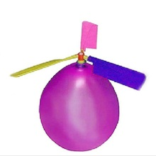 Traditional Classic Balloon Airplane Helicopter For Kids Child Party Bag Filler Flying Toy outdoors random color