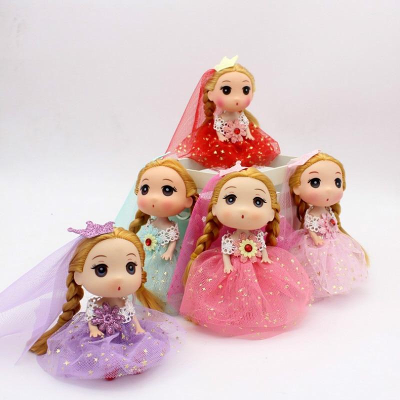 12 см свадебная фата невесты кукла игрушка подвеска подарок на день рождения кукла Boneca маленьких aliv Casa Da Барби Brinquedos puppenwagen принцессы ...