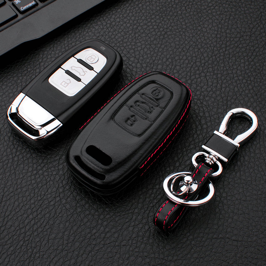 MICOCHE 1pcs Elegant Leather 3D Car Key Shape Car Key Case