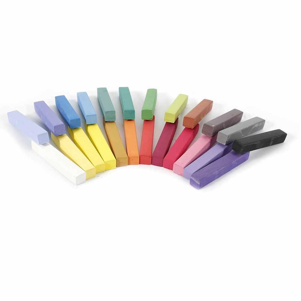 Временные Портативный 24 Цвета брусок мела волос Цвет краска комплект волос Цвет безалкогольные стиль мелки для волос Инструменты TSLM2