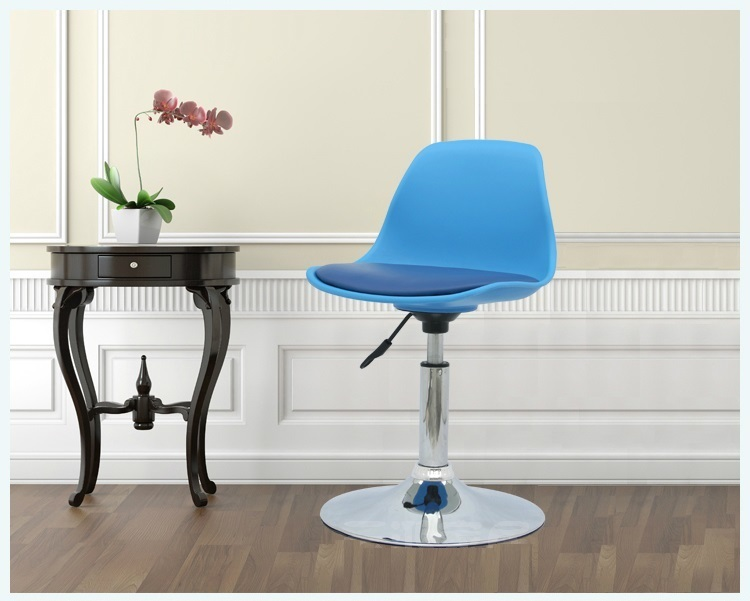European style garden bar chair living room reception stool retail and wholesale blue red green black free ABS seat