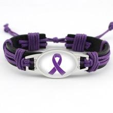Alert medyczny choroba alzheimera zapalenie opon mózgowych toczeń padaczka rak trzustki przemoc domowa zespół retta nadzieja wstążka skórzana bransoletka