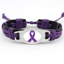 의료 경고 Alzheimers Meningitis Lupus 간질 crea장 암 국내 폭력 Rett 증후군 Hope Ribbon LeatherBracelet