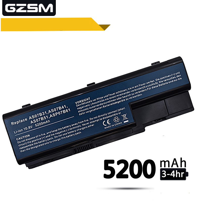 GZSM Laptop Battery 5520 For Acer AS07B31 AS07B41 AS07B51 AS07B61 AS07B71 AS07B72 Battery For Laptop 5230 5235 5310 5315 Battery