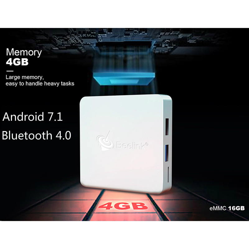 Andrio 7.1 TV box 4G 16G Quad-core Dual WIFI 2.4G 5.8G Set-top Box Bluetooth 4.1 Cortex-A53 LAN1000 Box TV Android 7.1