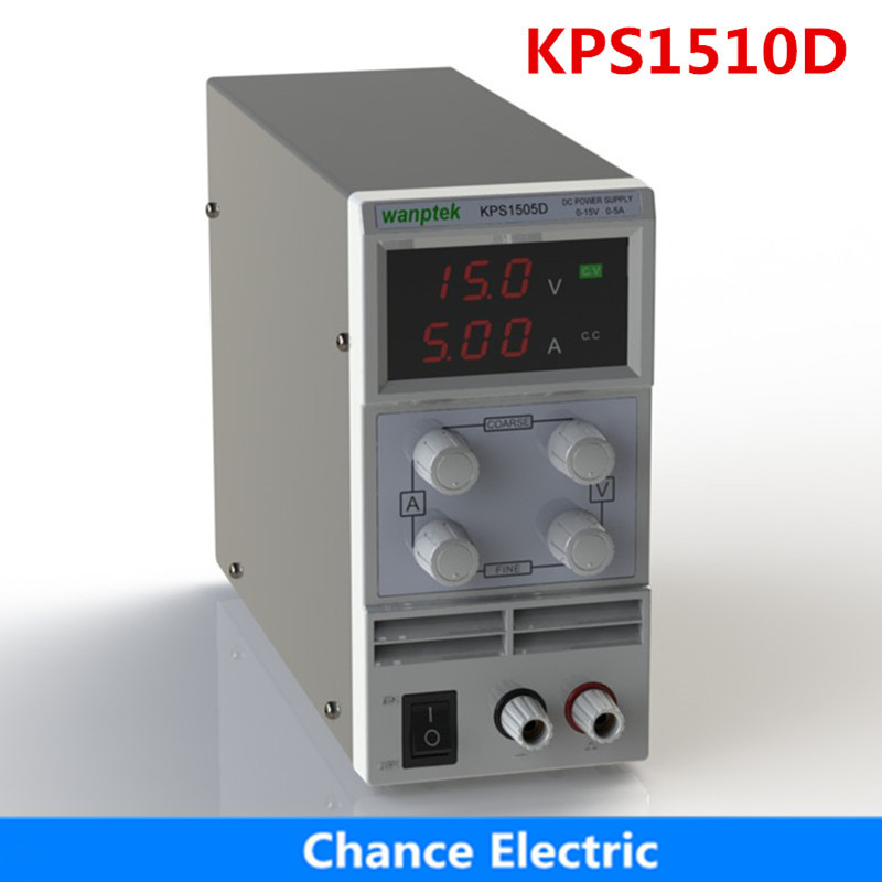 kps1510df 15v 10a digital adjustable dc power supply display mini switching dc power supply for laboratory KPS1510D 15V 10A AC110V-220V Adjustable mini Protection Function Double Digital Display Switching DC Power Supply