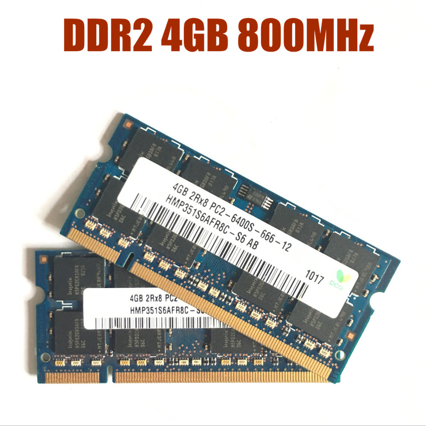 Nanya 2GB Memory-Laptop 200-Pin DDR2-800 PC2-6400S 01 NT2GT64U8HDOBN-AD