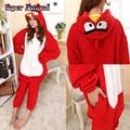Kigurums Red Birds Coral Fleece Animal Footed Pajamas Kigurums Onesie Pijamas Cosplay Costume For Women and Adults Angrys Kids