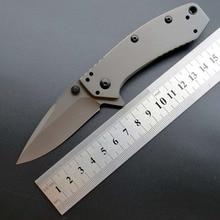 купить Eafengrow Kershaw 1555TI Folding Blade Knife 8Cr13MoV Steel Titanium plating Flipper Outdoor Survival EDC Tool kitchen knife дешево