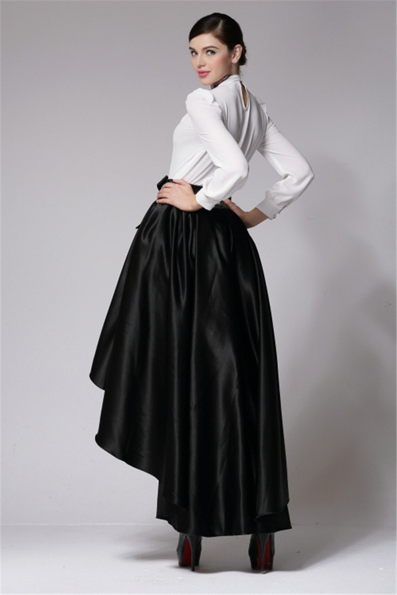 33af85d3186b Jupe Longue Party Evening Prom Skirt 7XL Plus Size Vintage Asymmetrical  Long Skirt Laides Retro High Waist Maxi Dovetail Skirts-in Skirts from  Women's ...