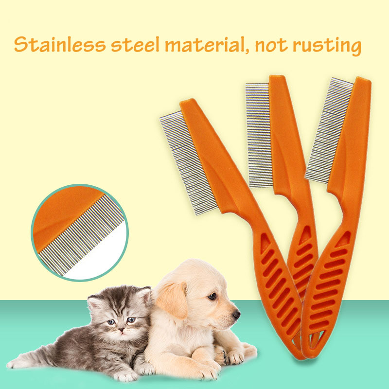 New Pet Dog Hair Brush Shedding Grooming Comb Puppy Cat Stainless Pin Flea