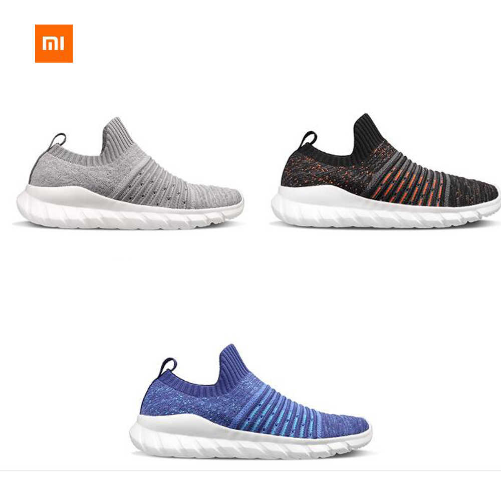 3colors Xiaomi FREETIE Fflying Woven Shoes Men s Models Flying Woven Upper EVA Cushioning Outsole Sock