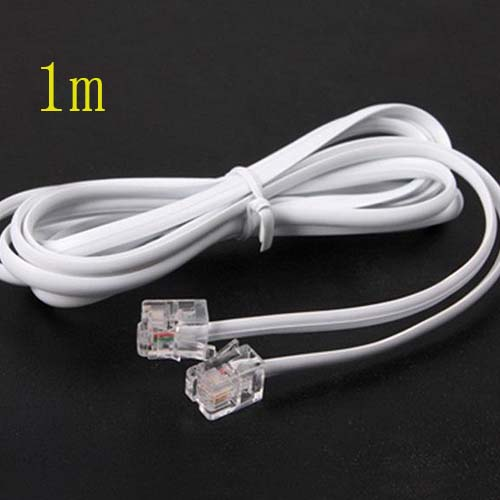 High Speed 3FT 1M RJ11 Telephone Phone ADSL Modem Line Cord Cable NEW