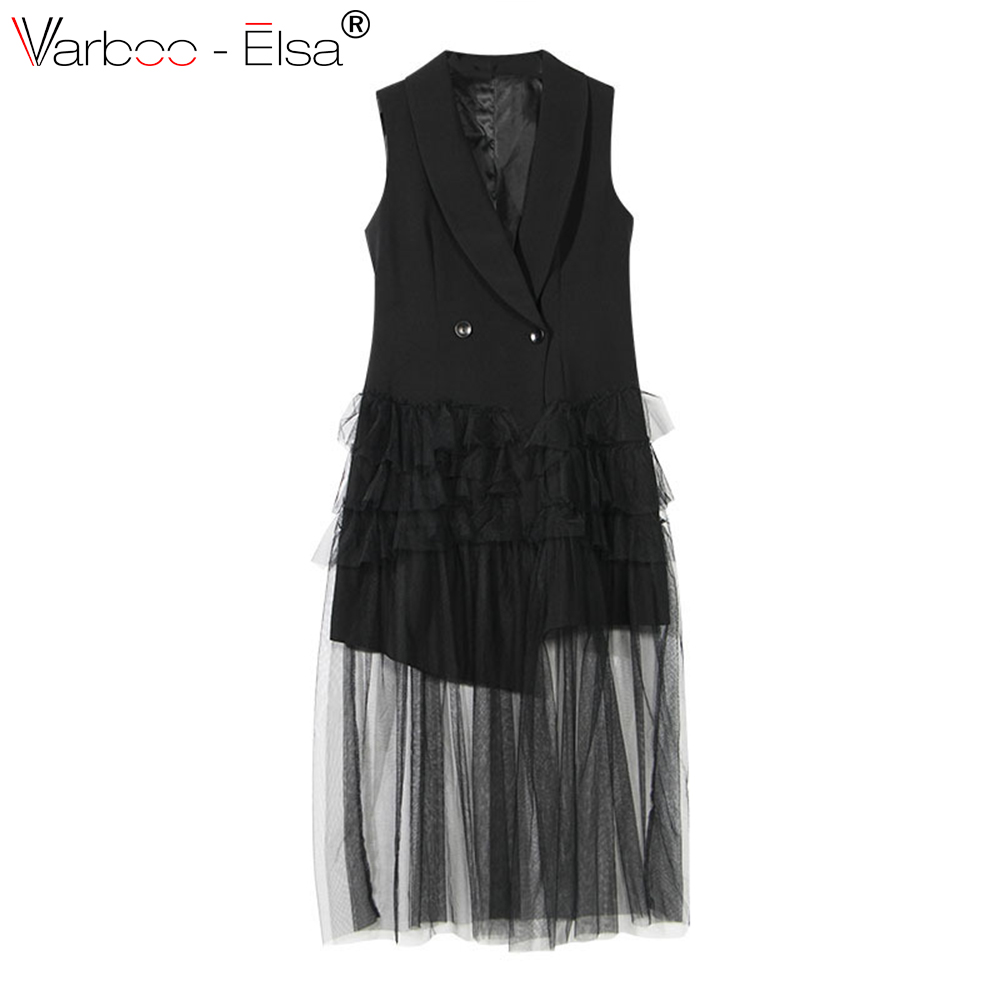 Survêtement Femelle Varboo Manteaux Manches Maille Noir Cardigan elsa Pour Sans Manteau Femmes Grand Occasionnel Grande Gilet Taille Patchwork tgB7g