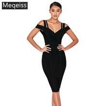 1da4ea954 Venta al por mayor MEQEISS 2018 nuevo vestido negro y rojo vino elástico  apretado paquete cadera moda elegancia de fiesta cóctel.