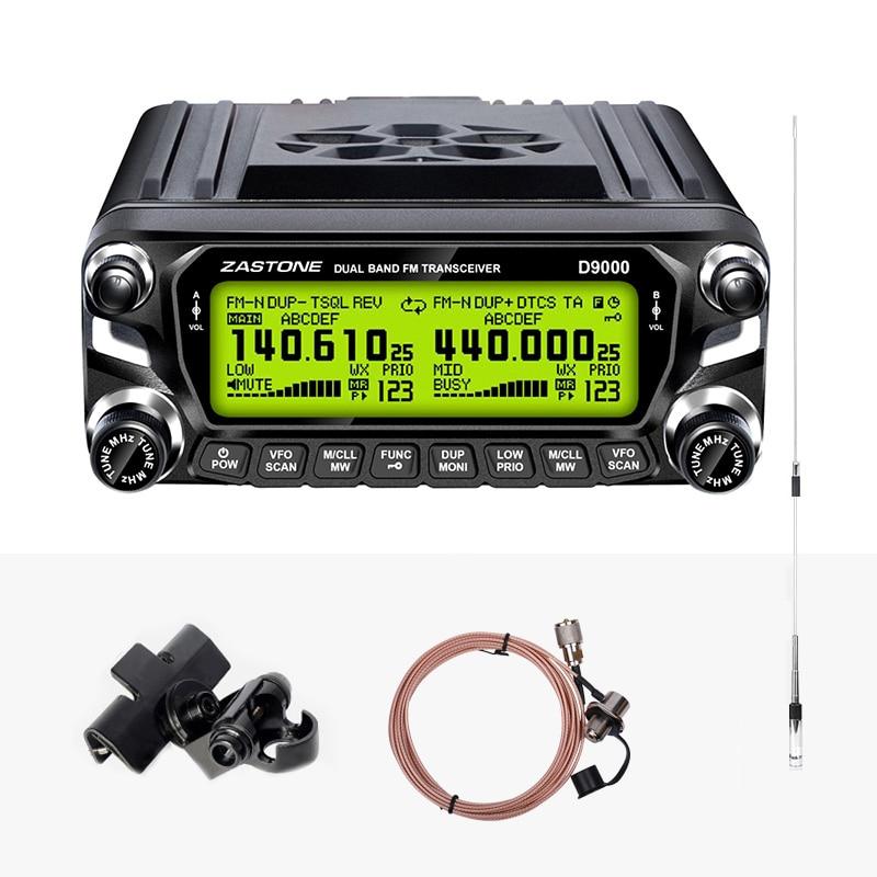 Zastone D9000 50 W coche Walkie Talkie 50 km Doble banda UHF VHF Radio móvil transceptor gran pantalla LCD 512 canal estación-in Walkie-talkie from Teléfonos celulares y telecomunicaciones on AliExpress - 11.11_Double 11_Singles' Day 1