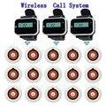 433.92 MHz Wireless Sistema de Llamada Del Restaurante 3 unids Reloj Receptor Anfitrión + 15 unids Llamada Transmisor Botón Localizador Restaurante F3229A