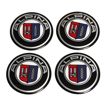 For Alpina Sticker For BMW 1 2 Series X3 X5 X7 Z3 E30 E34 E39 E60 E87 F10 F20 120I 318I Car Styling Wheel Center Hub Caps Emblem image