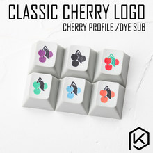Novelty cherry profile pbt keycap for mechanical keyboards Dye Sub legends classic cherry logo black red green orange purple(China)