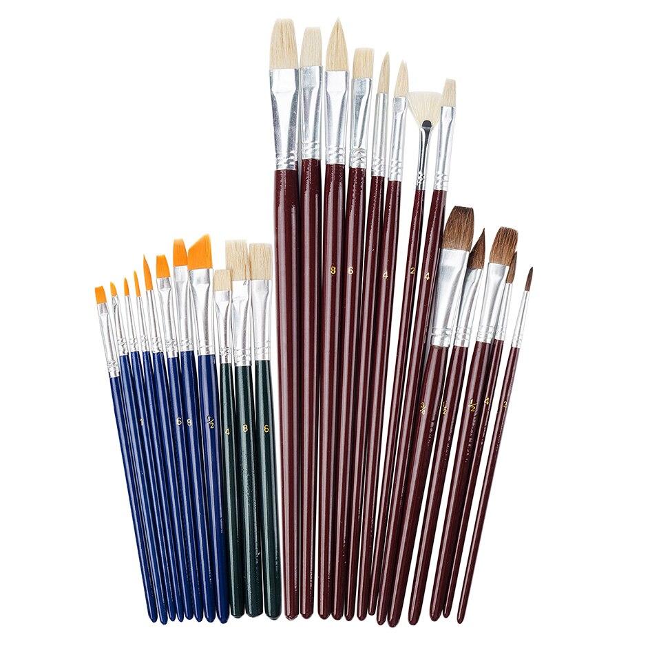 25 Pieces Art Paint Brush Value Set for Oils, Acrylic, Gouache & Watercolor Painting цена