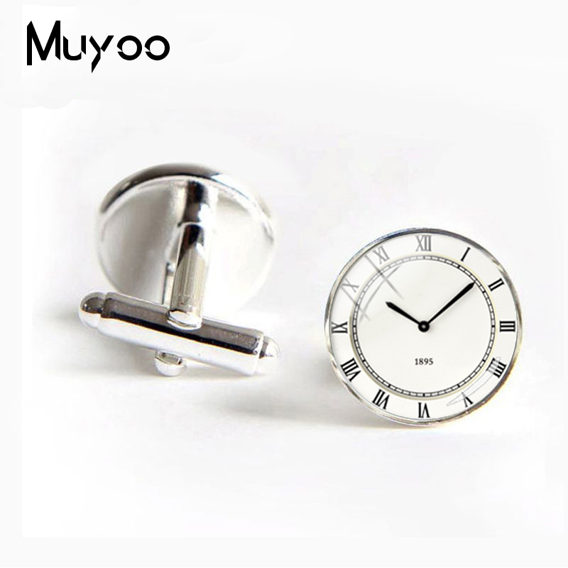 2018 New London Cufflinks See Twins Round Dome Steampunk Vintage Jewelry Painting Watch Pattern Cuff Best Gifts For Men