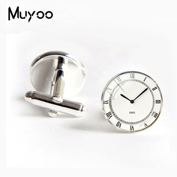 2018 New London Cufflinks See Twins Round Dome Steampunk Vintage Jewelry Painting Watch Pattern Cuff