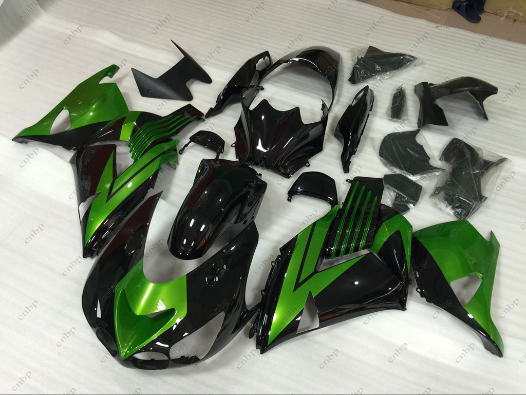 Fairings ZZR 1400 2008 Fairing Kits Zx14 Zx-14r 2009 2006 - 2011 Green Black Plastic Fairings for Kawasaki Zx14r 2010
