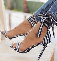 67d4b620d ... Amarrado Saltos Tira No Tornozelo Lace Up Bow Sexy festa Sandália.  Women Shoes Women High Heels Sandals New Ladies Sandals Cross Tied Women  Heels Ankle ...