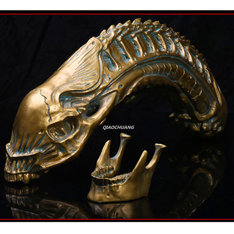Alien: Covenant Alien 1:1 LIFE SIZE Statue Alien Larvae Bust AVP Skull Artware Resin Action Figure Collectible Model Toy W243