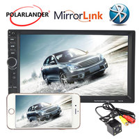 10 Languages Bluetooth Car Radio FM/TF/USB/AUX IN MP5 Player 2 DIN Touch Mirror Link Screen 7 Inch Mirror For Android Phone