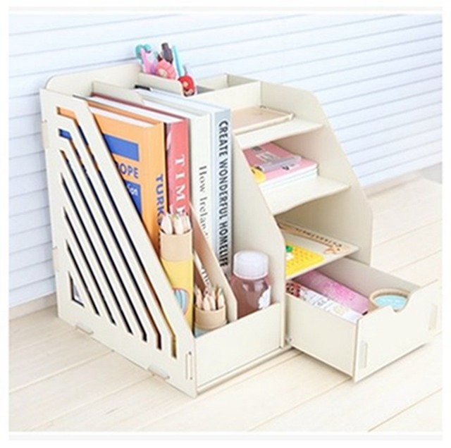 Office Supplies, Large Drawers, Desktop Storage Boxes, Wooden File Racks,  Creative File