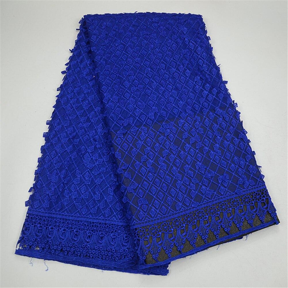 Amour merci dentelle nigéria robe de mariée Net dentelle 2018 africaine plaine bleu Royal dentelle tissu X80-8
