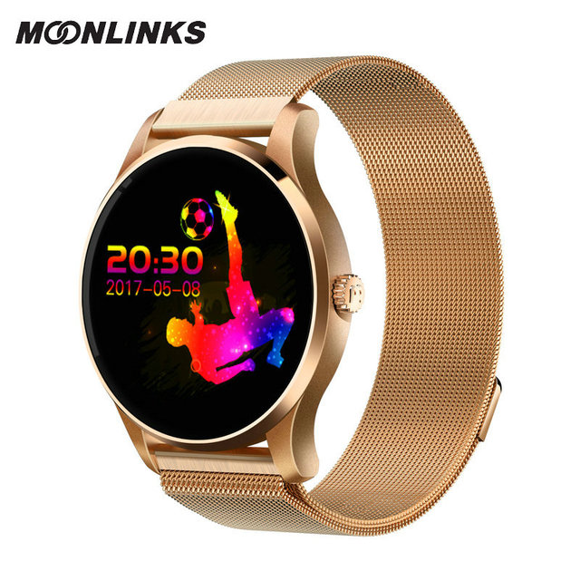 Moonlinks K88 wearable devices mobile watch smart watch men stainless steel stra smartwatch android pulseira inteligente