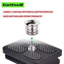Photo studio unc 1/4 interchangeable 3/8 adapter screw camera tripod Heads camera slide interface conversion nut 1pcs