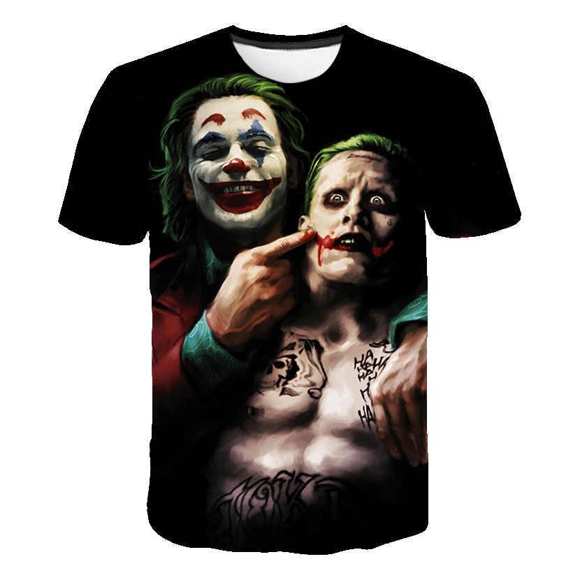 2019 Новинка Горячая Распродажа футболка с клоуном для мужчин/wo мужчин джокер лицо 3D принт террор модные футболки